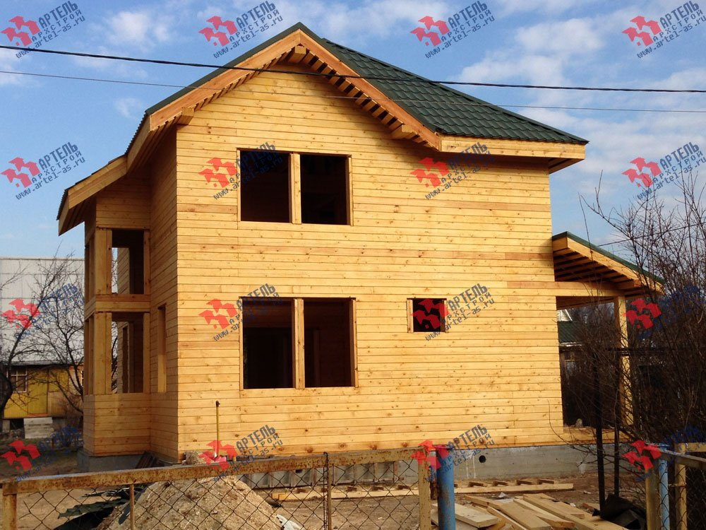 дом из профилированного бруса построенный по проекту Вариант 9.3 А фотография 3326