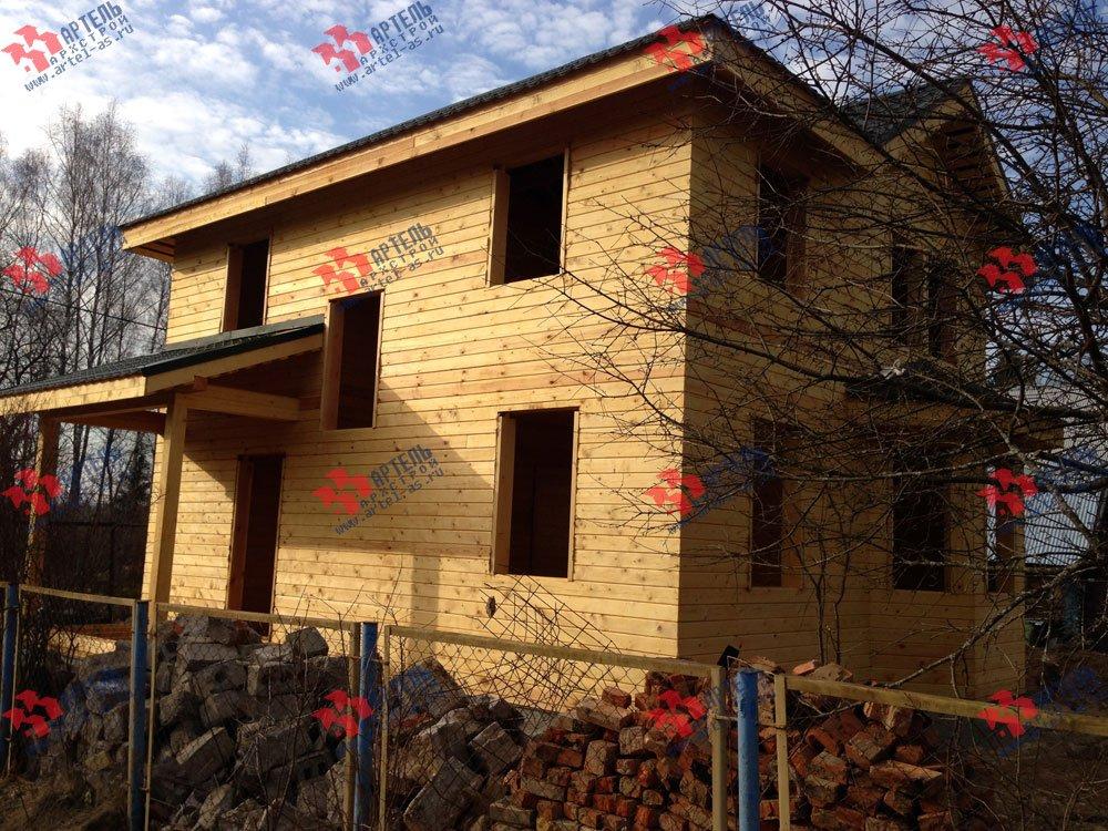 дом из профилированного бруса построенный по проекту Вариант 9.3 А фотография 3327