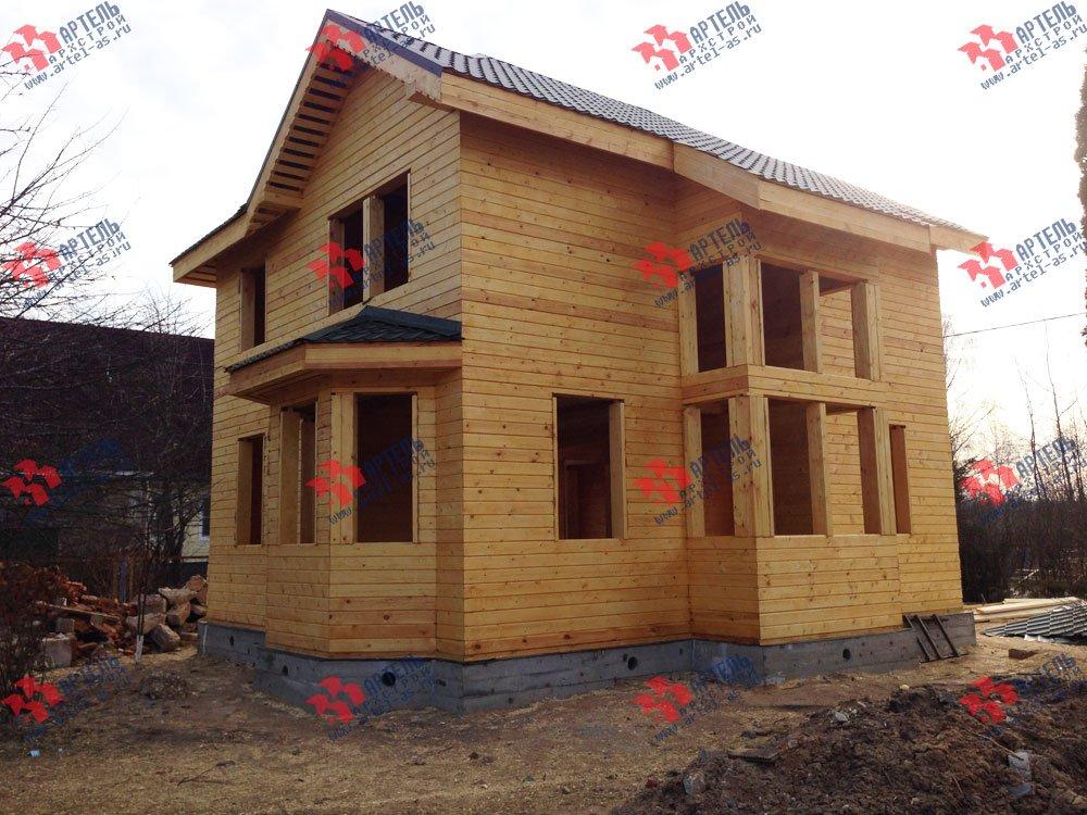 дом из профилированного бруса построенный по проекту Вариант 9.3 А фотография 3328