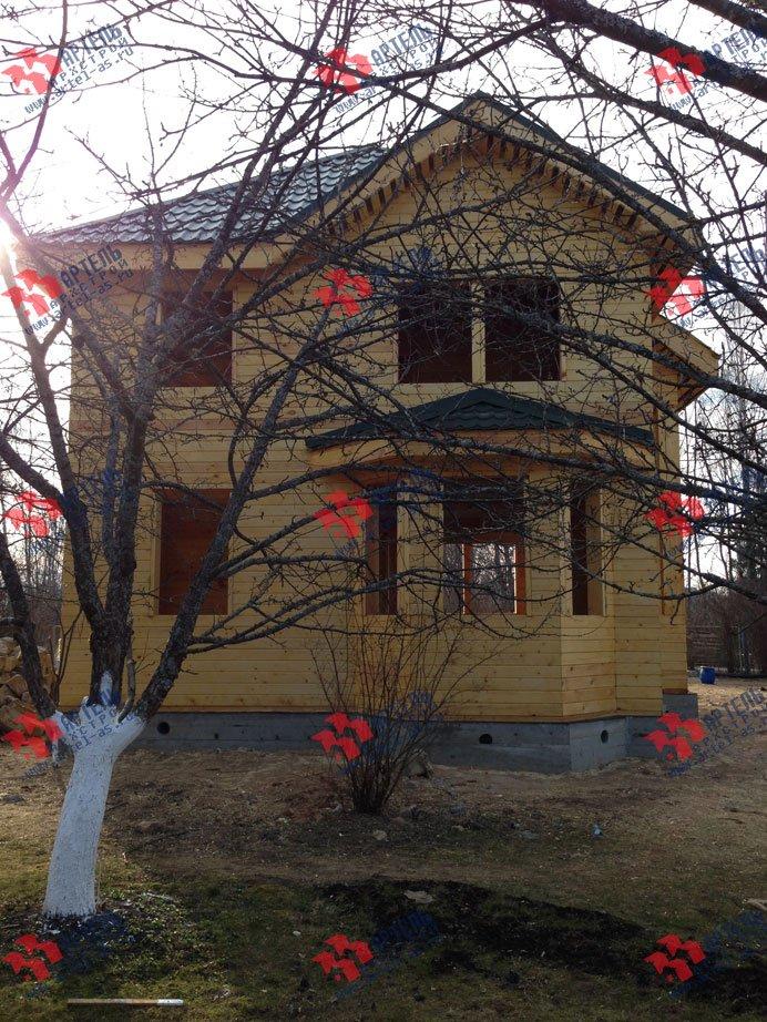 дом из профилированного бруса построенный по проекту Вариант 9.3 А фотография 3329