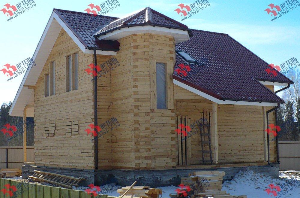 дом из бруса построенный по проекту Вариант 8.8 А фотография 1742