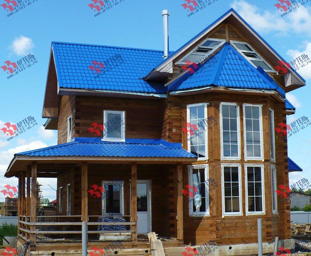 дом из бруса построенный по проекту Вариант 12.3 А фотография 1898