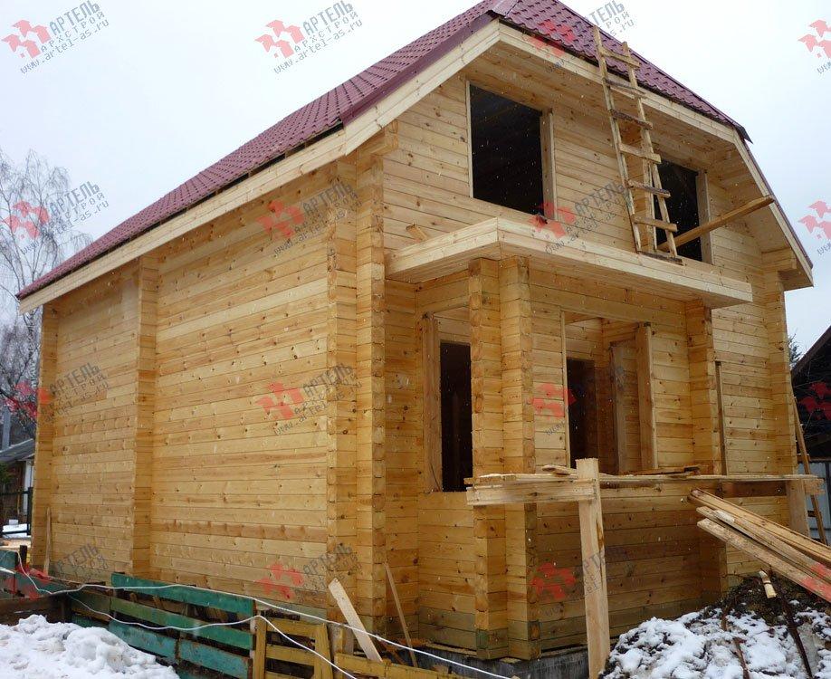 дом из профилированного бруса построенный по проекту Вариант 7 Г фотография 1685