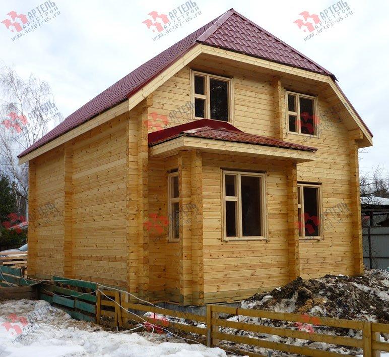 дом из профилированного бруса построенный по проекту Вариант 7 Г фотография 1688