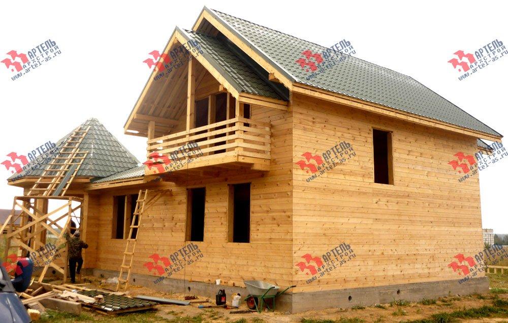 дом из профилированного бруса построенный по проекту Вариант 9 Е-1 фотография 2602