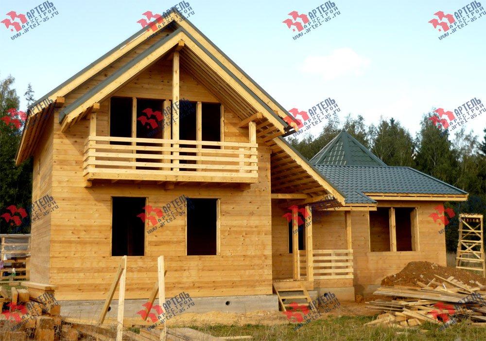 дом из профилированного бруса построенный по проекту Вариант 9 Е-1 фотография 2604