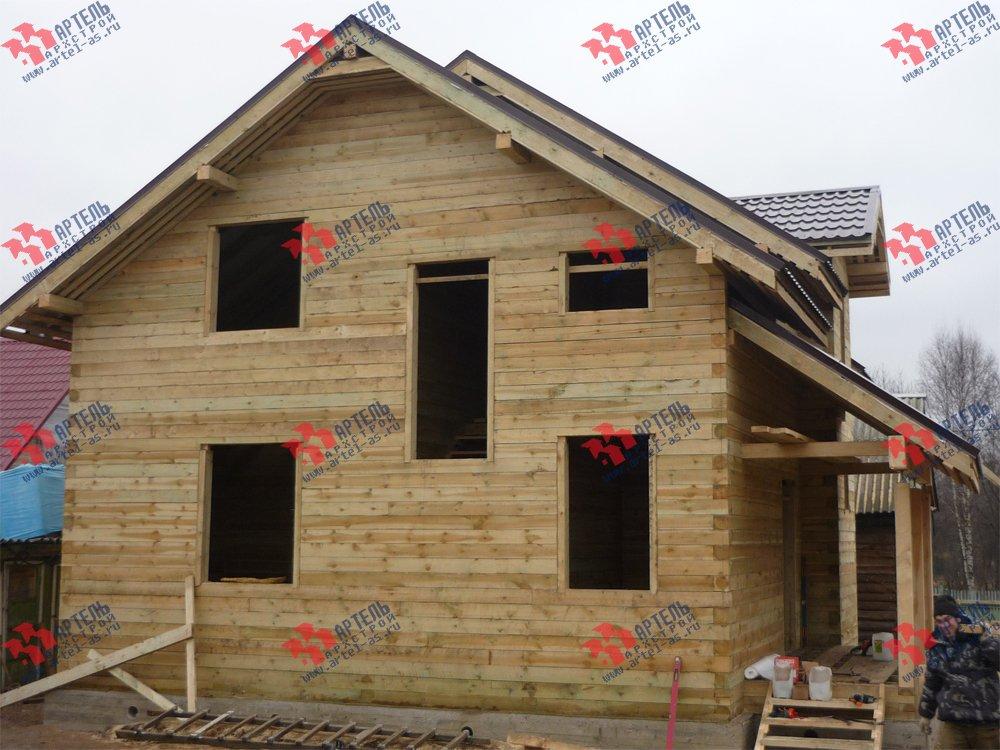 дом из бруса построенный по проекту Вариант 11 Л-2 фотография 3319
