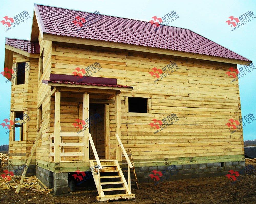 дом из бруса построенный по проекту Вариант 9 В фотография 1834