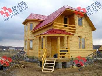 дом из профилированного бруса построенный по проекту Вариант 6 К фотография 1652