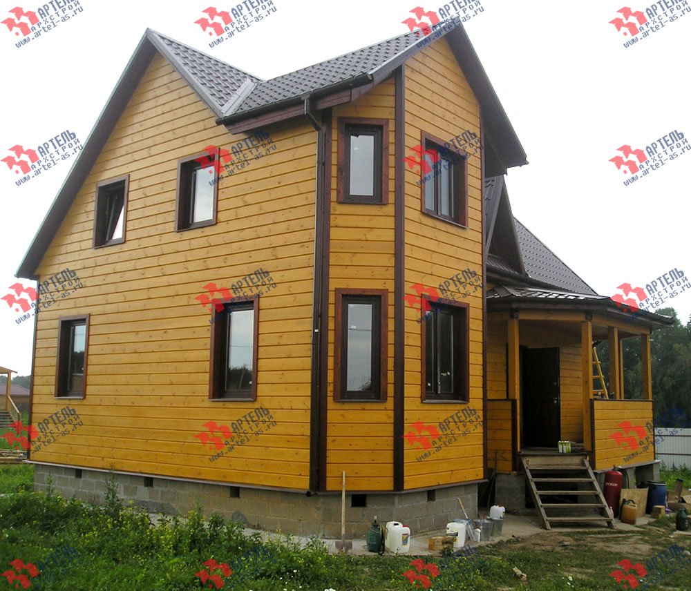 дом из бруса построенный по проекту Вариант 8.4 А фотография 2553
