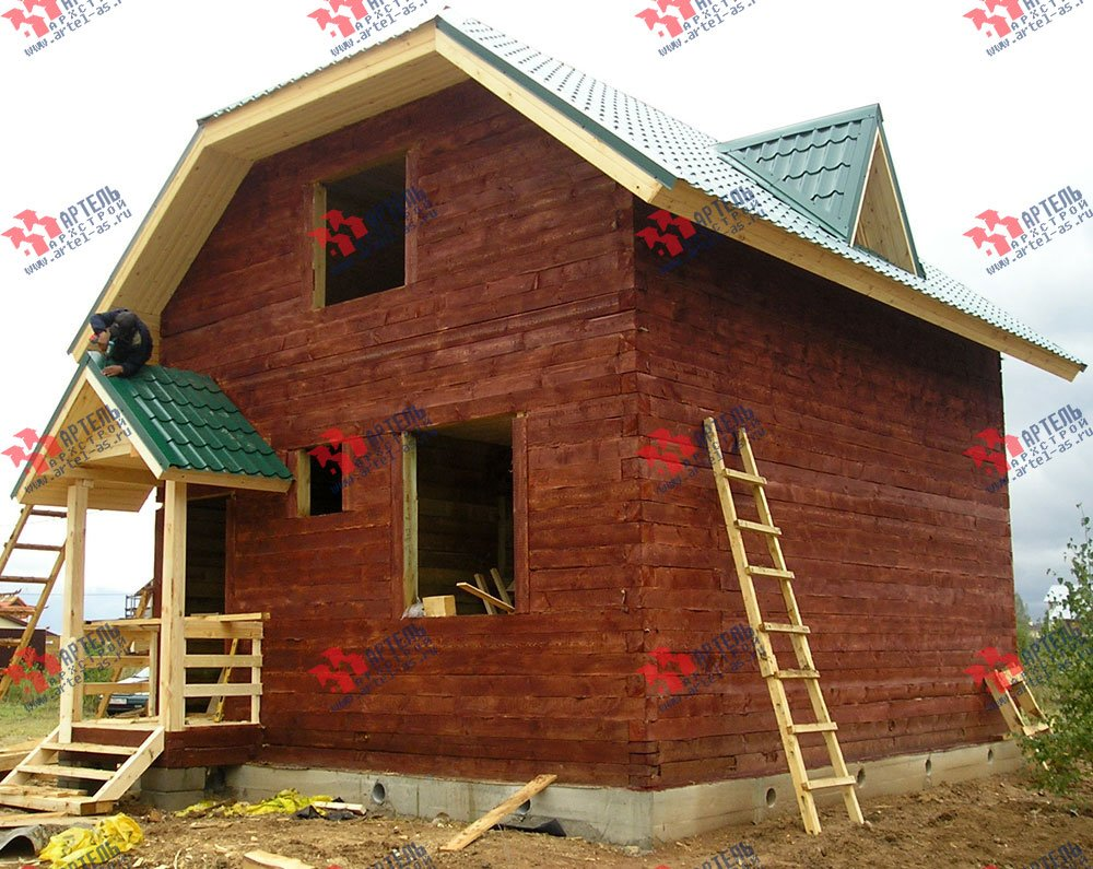 дом из профилированного бруса построенный по проекту Вариант 6 Г фотография 1644