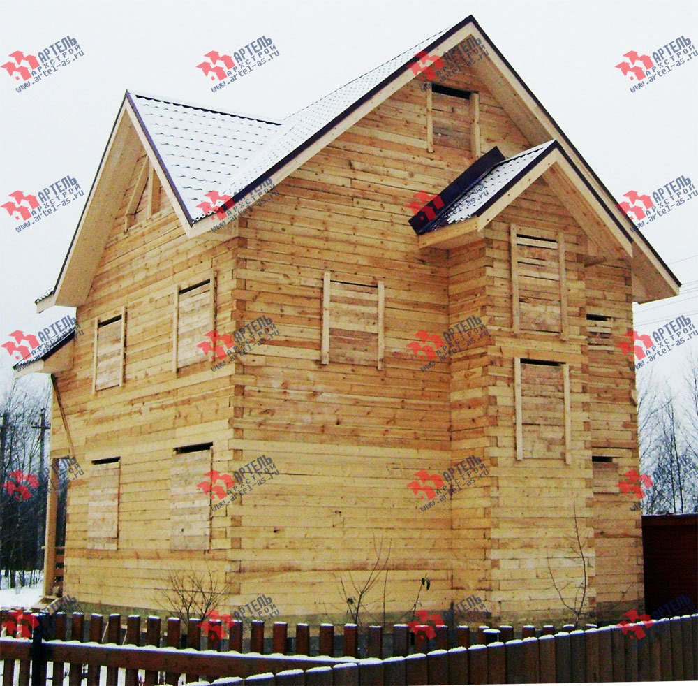 дом из бруса построенный по проекту Вариант 8 П фотография 1781