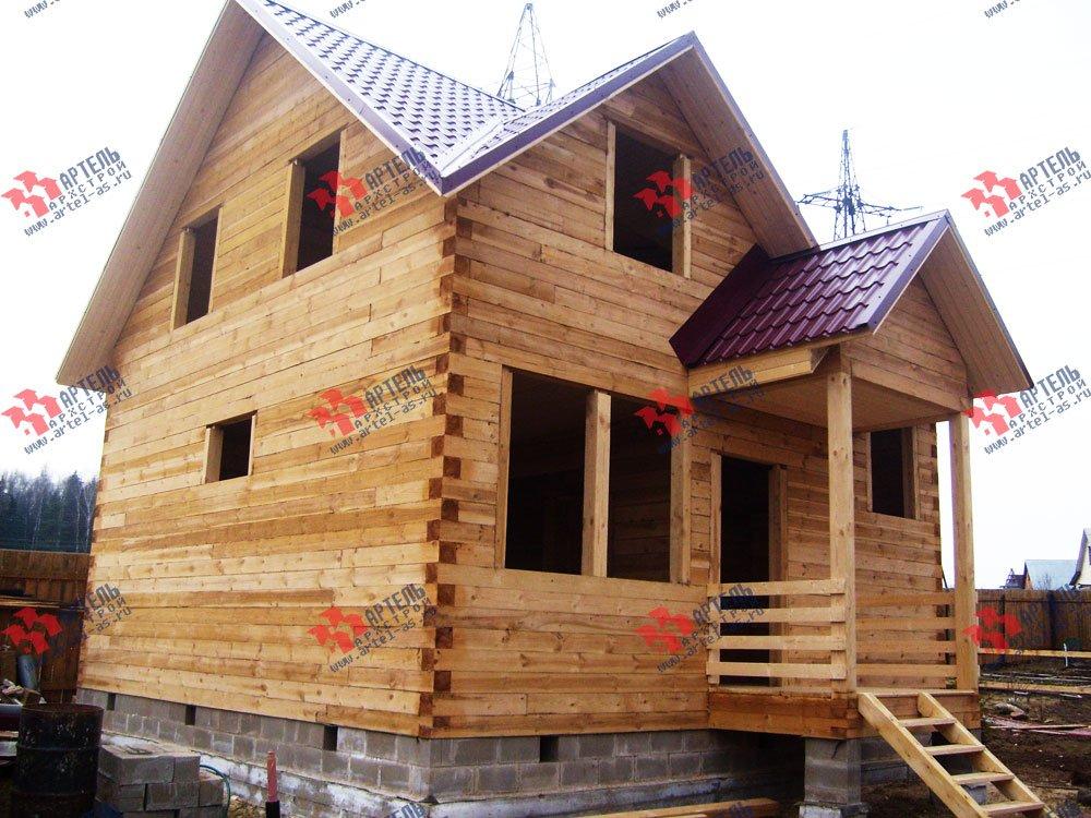 дом из бруса построенный по проекту Вариант 7 А фотография 1696
