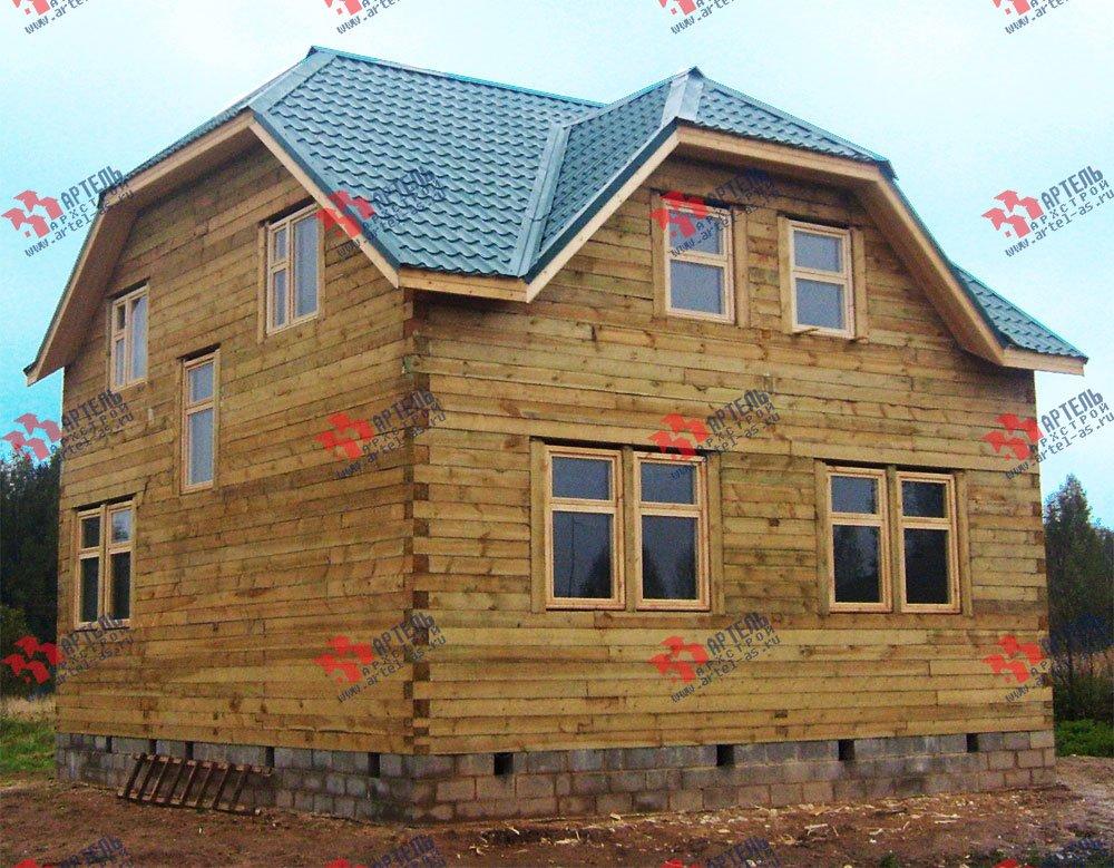 дом из бруса построенный по проекту Вариант 8 Н фотография 1773
