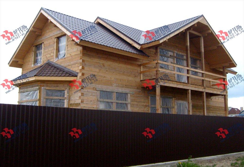 дом из бруса построенный по проекту Вариант 6 О-1 фотография 2286