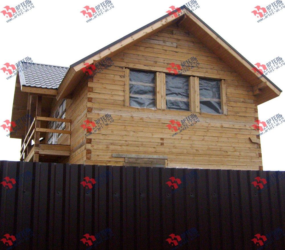 дом из бруса построенный по проекту Вариант 6 О-1 фотография 2287