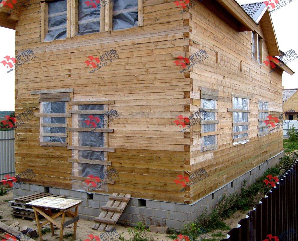 дом из бруса построенный по проекту Вариант 6 О-1 фотография 2288