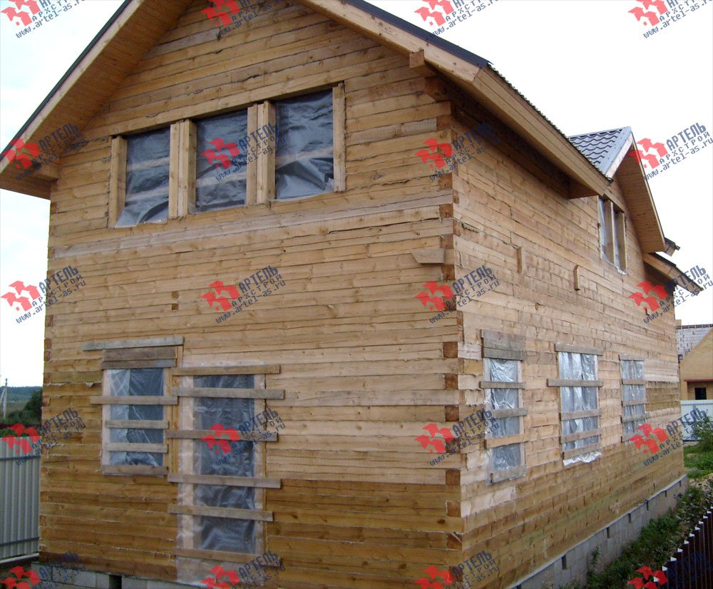 дом из бруса построенный по проекту Вариант 6 О-1 фотография 2289