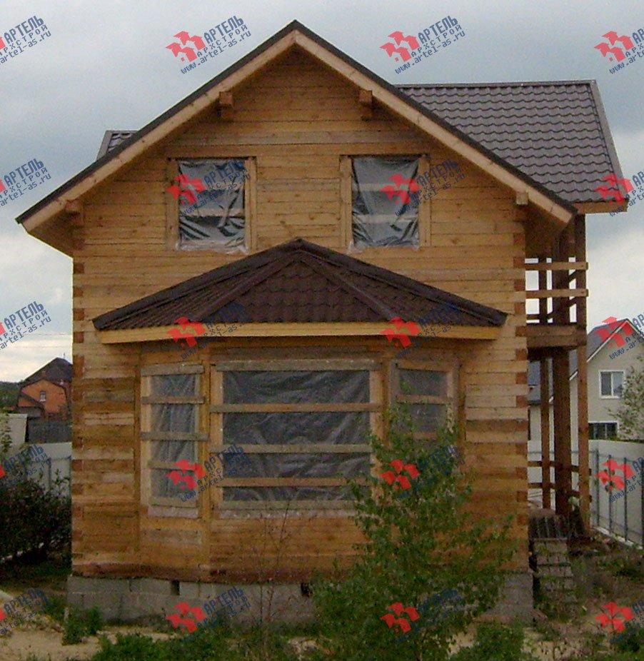 дом из бруса построенный по проекту Вариант 6 О-1 фотография 2285