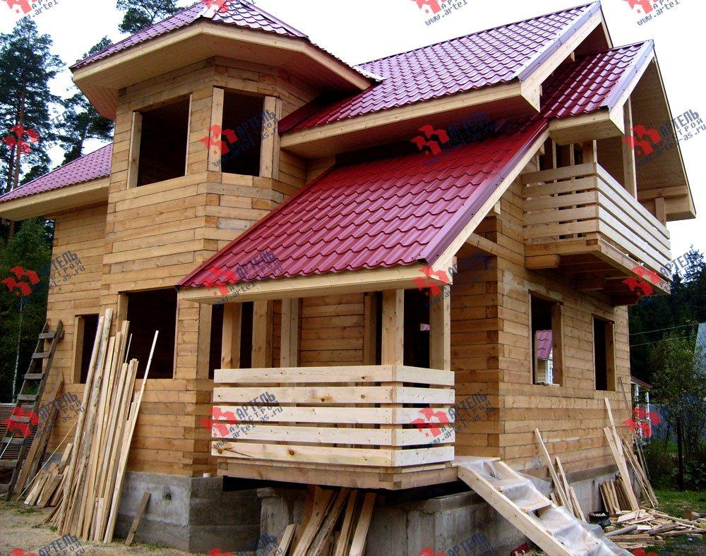 дом из бруса построенный по проекту Вариант 6.2 К фотография 1635