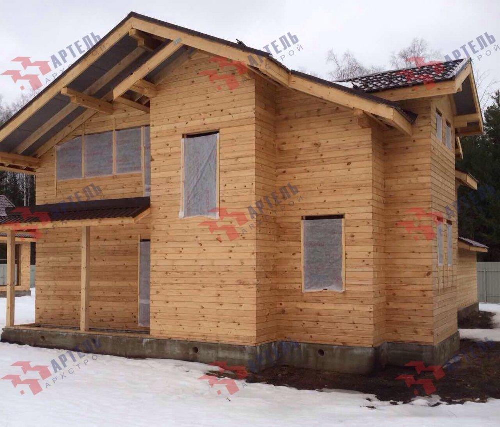 дом из камня построенный по проекту Вариант 26 фотография 5161